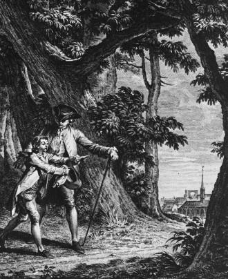 Dalla natura alla cultura in un'immagine tratta da un'edizione storica dell'Emilio di Rousseau