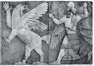 "Anunnaki Chaos Monster and Sun God per ""Seguaci dell'invisibile"""