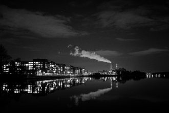 Winter Night City (Berlin) by Matthias Ripp