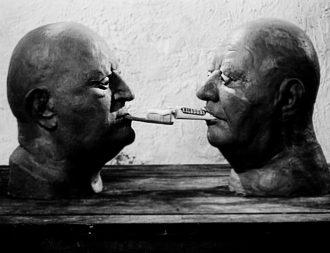 Fotogramma del cortometraggio Dimensioni del dialogo di Jan Švankmajer (1983) bn [anna lav].jpg
