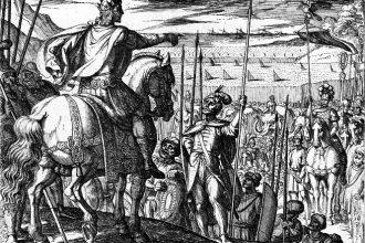 Le truppe di Alessandro implorano di tornare a casa dall' India incisione di Antonio Tempesta ( 1609 ) [anna lav].jpg