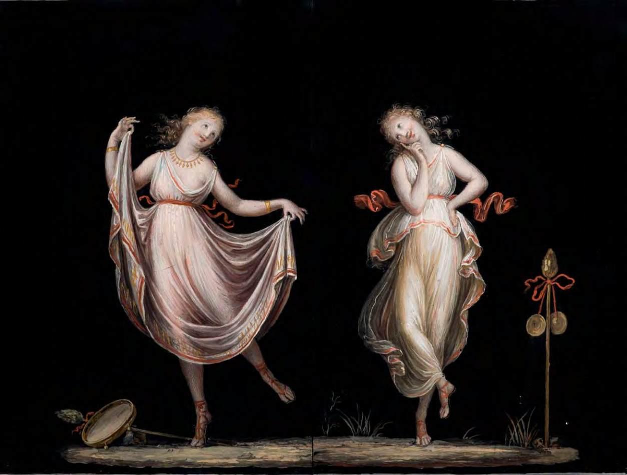 Due Danzatrici | Antonio Canova, tempera su carta, 1829-1830