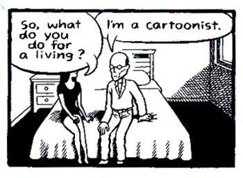 """Vignetta da """"Io le pago"""", di Chester Brown"""