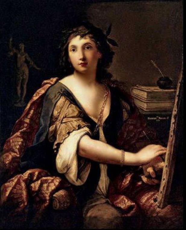 Elisabetta Sirani, Autoritratto idealizzato come Allegoria della Pittura, Mosca, Museo Puskin, 1658