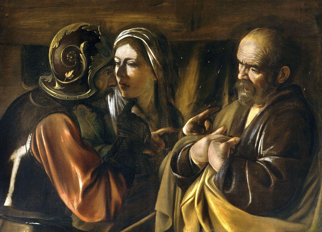 Caravaggio, La negazione di Pietro, 1610