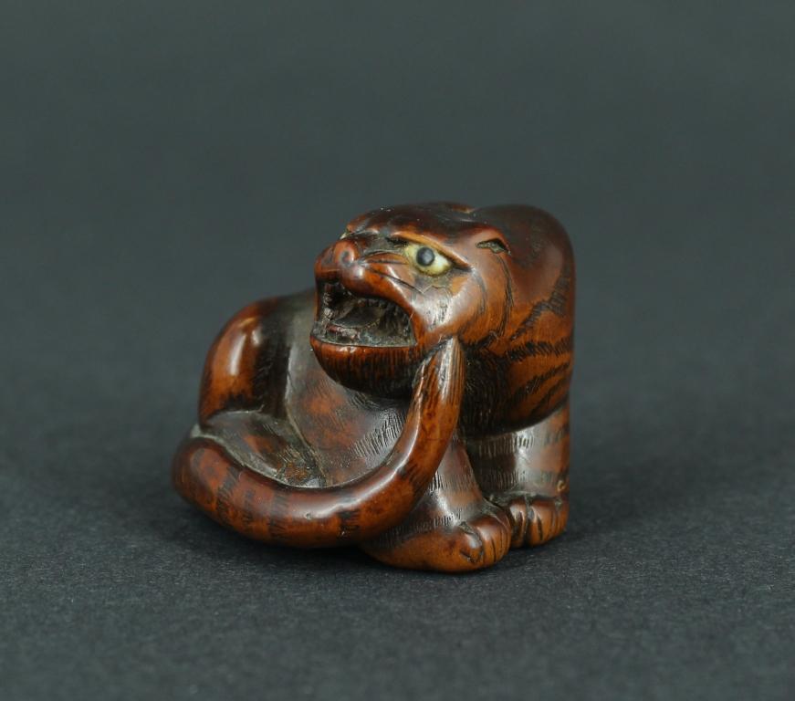 Natsuke tigre di legno Galliavola