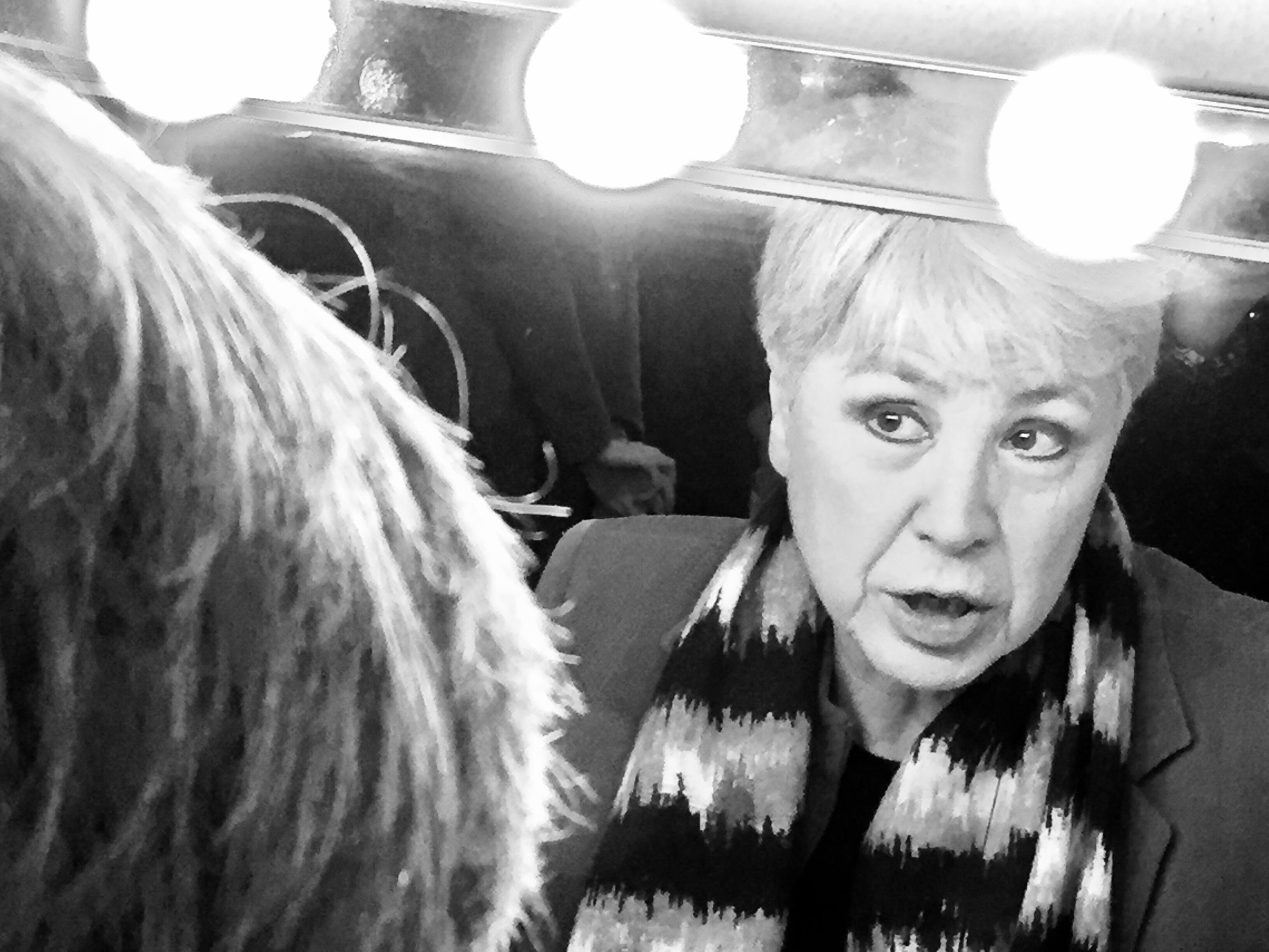 Ottavia Piccolo nel camerino del Teatro Ringhiera, Milano 2017. Foto di Camilla Giannelli