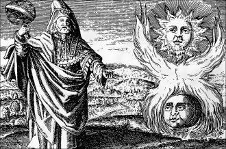 Ermete Trismegisto, scrittore e filosofo egiziano del III secolo, a cui si ricollega il Corpus Hermeticum [anna lav]