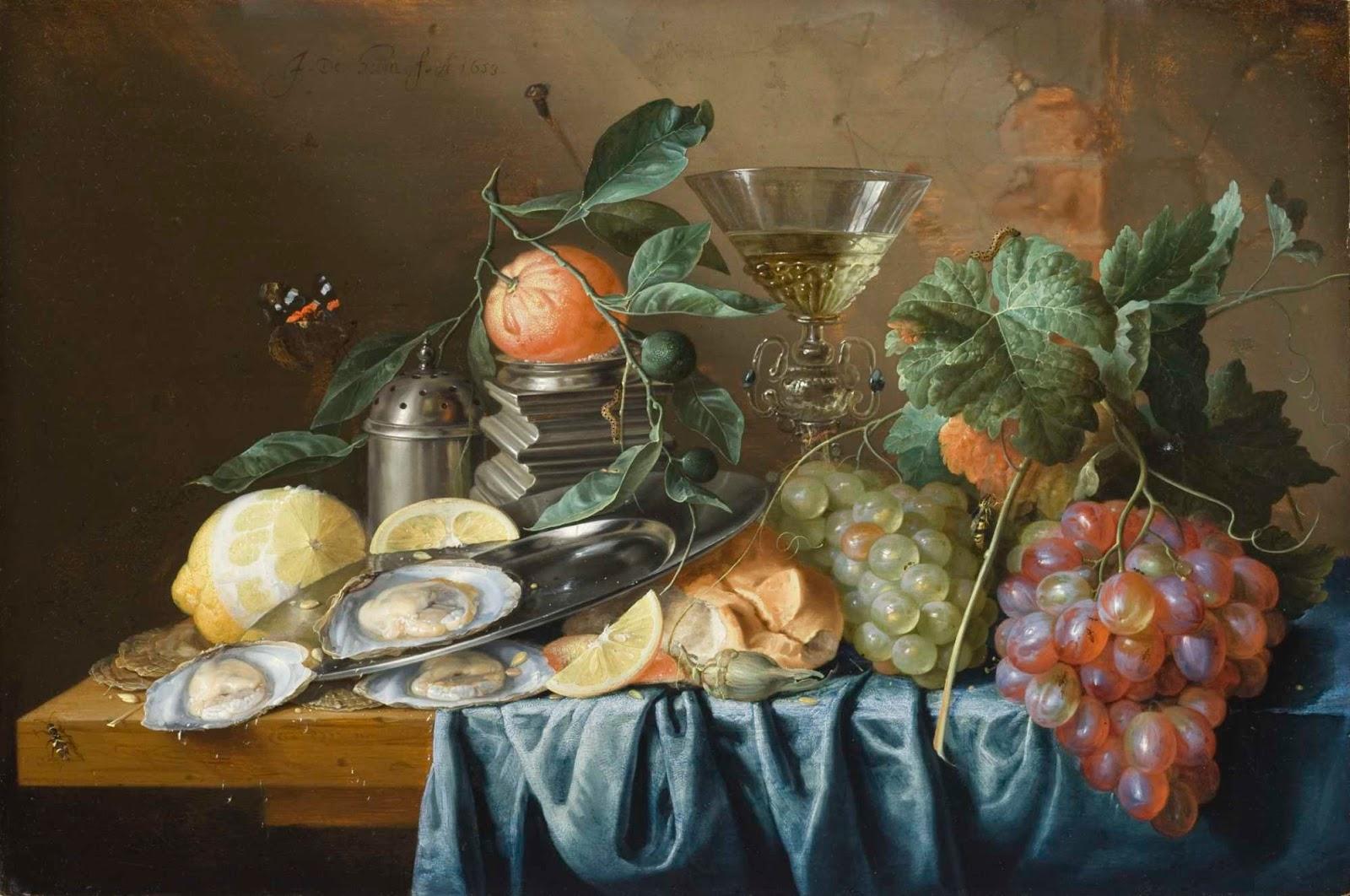Jan Davidsz. de Heem Natura morta con ostriche e uva ( 1653 ) [anna lav]