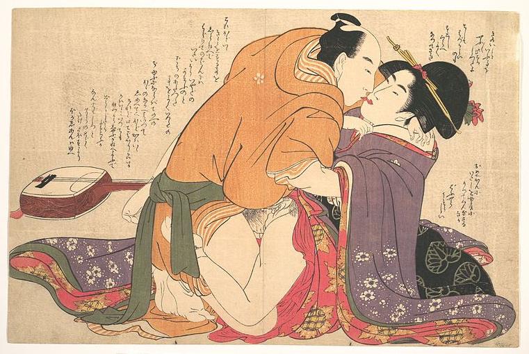 Stampa shunga di Kitagawa Utamaro (1753-1806)