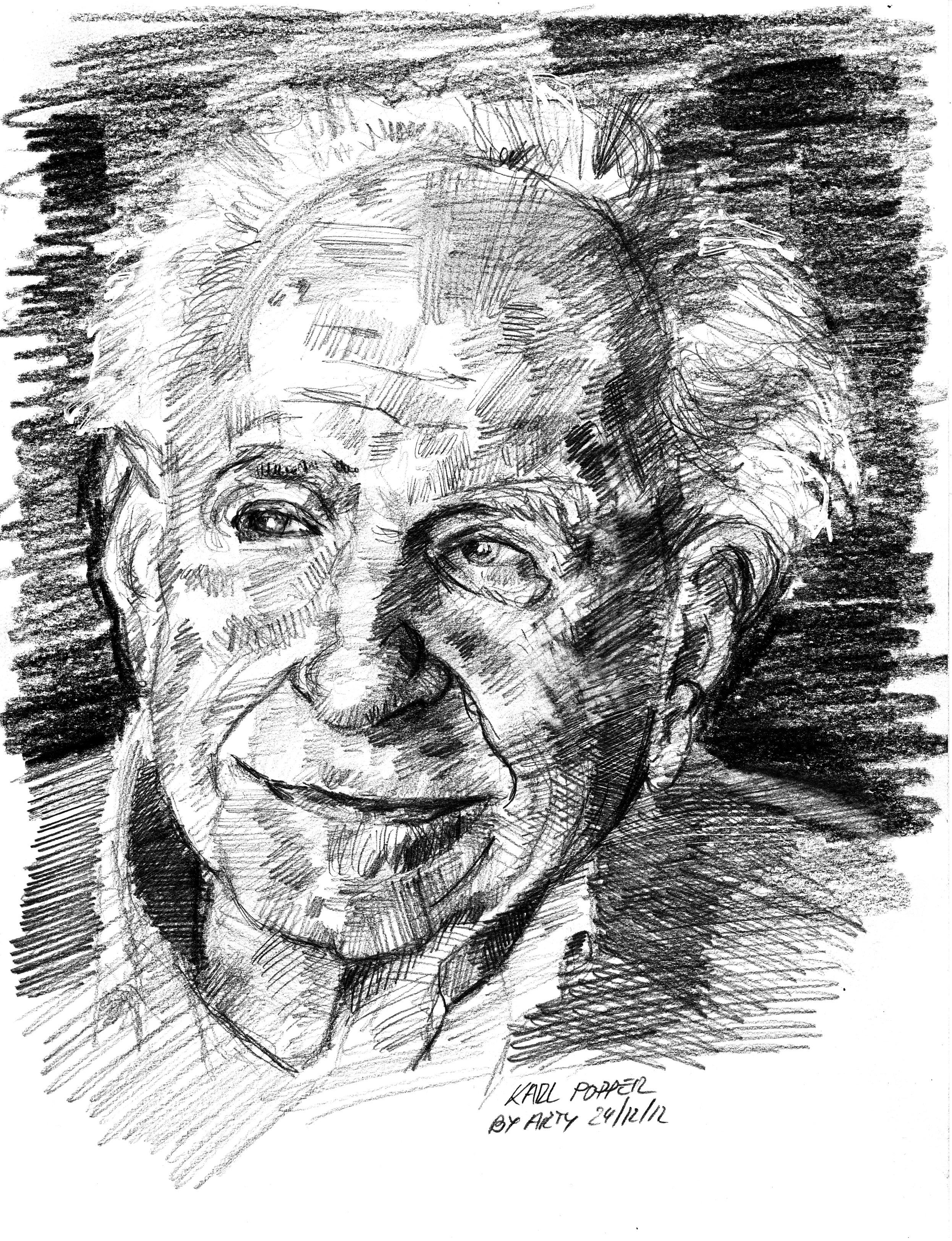 Karl Popper nel ritratto di Arturo Espinosa