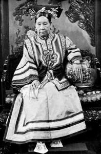 L'imperatrice Cixi sul trono nella Città Proibita.
