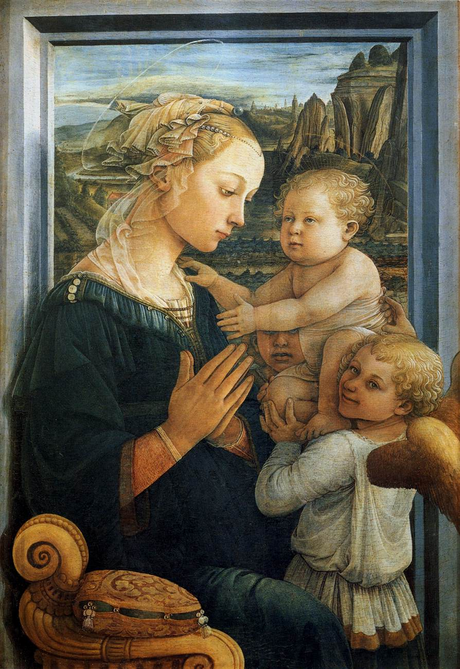 Filippo Lippi, Madonna col Bambino e angeli, 1465 ca., Galleria degli Uffizi, Firenze