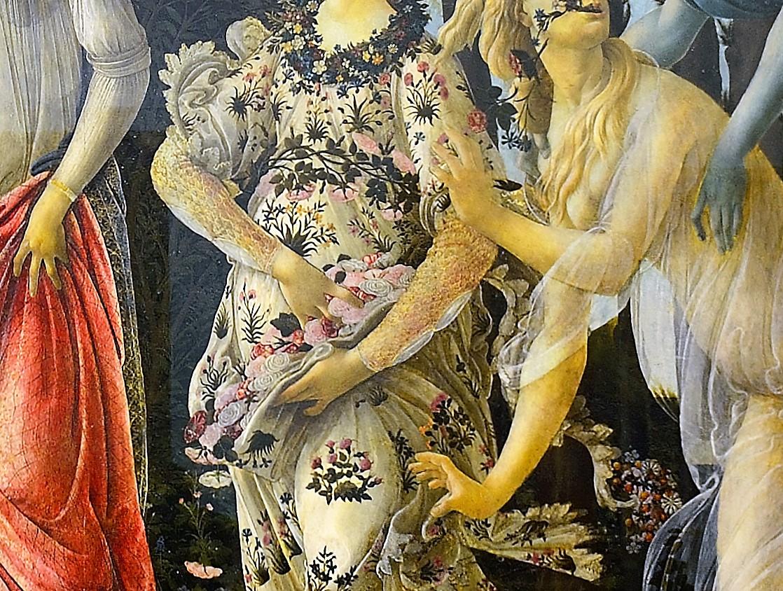 Sandro Botticelli, Primavera, 1482 ca., Galleria degli Uffizi, Firenze, particolare