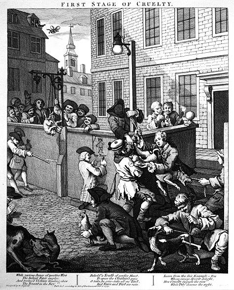Hogarth - Primo stadio della crudeltà