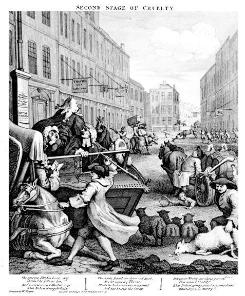 Hogarth - Secondo stadio della crudeltà