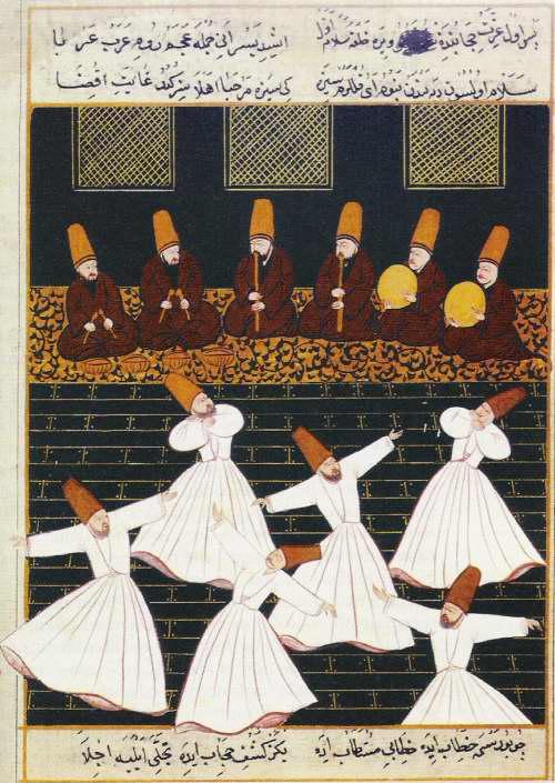 POESIA_Danza dei dervisci Miniatura del XVI secolo_Colore