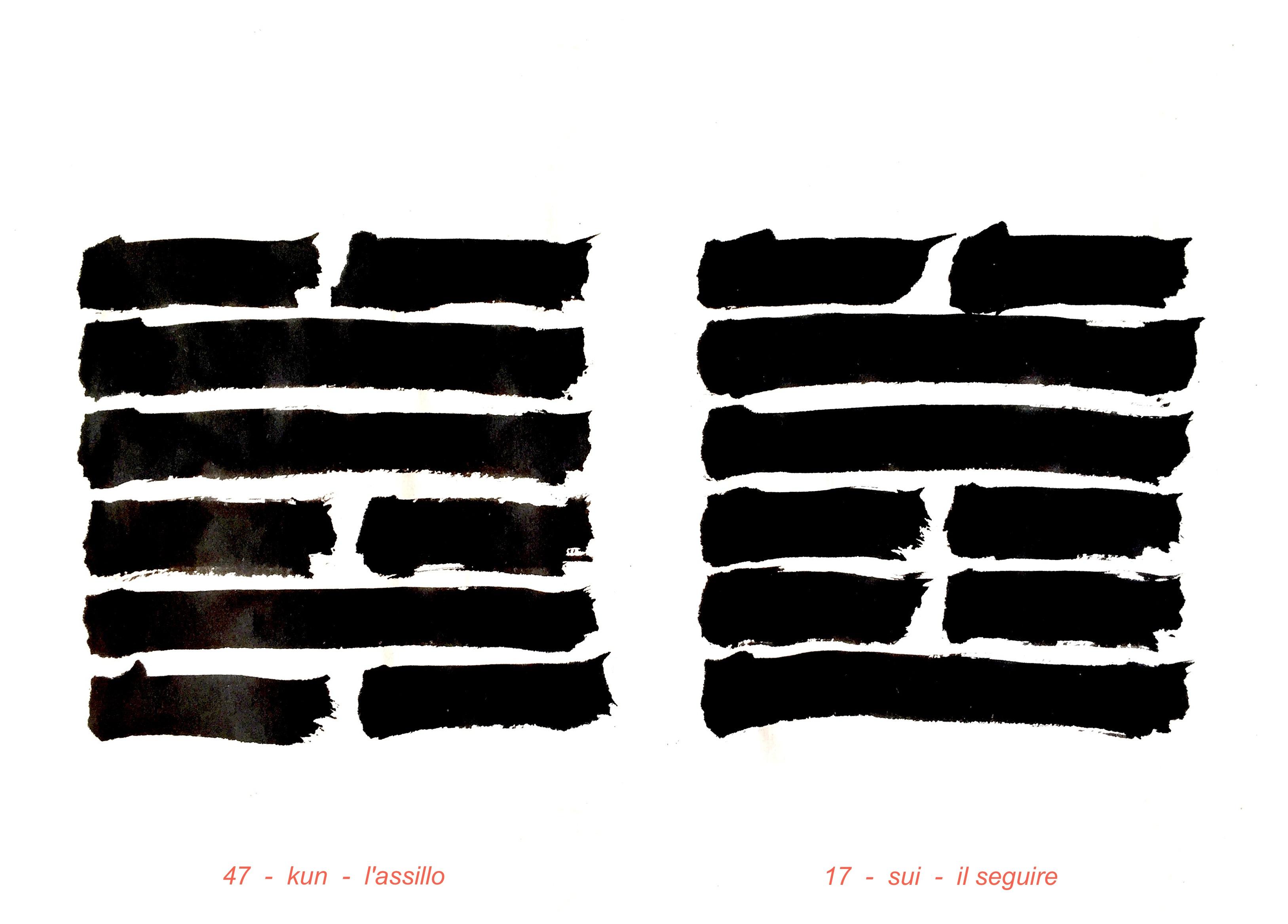 I Ching esagrammi 17 e 47 Il seguire e L'assillo