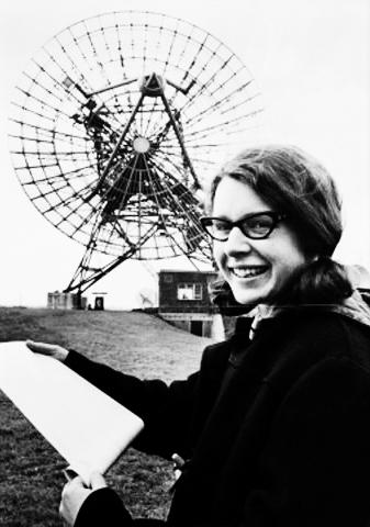 L'astrofisica Jocelyn Bell Burnell da giovane
