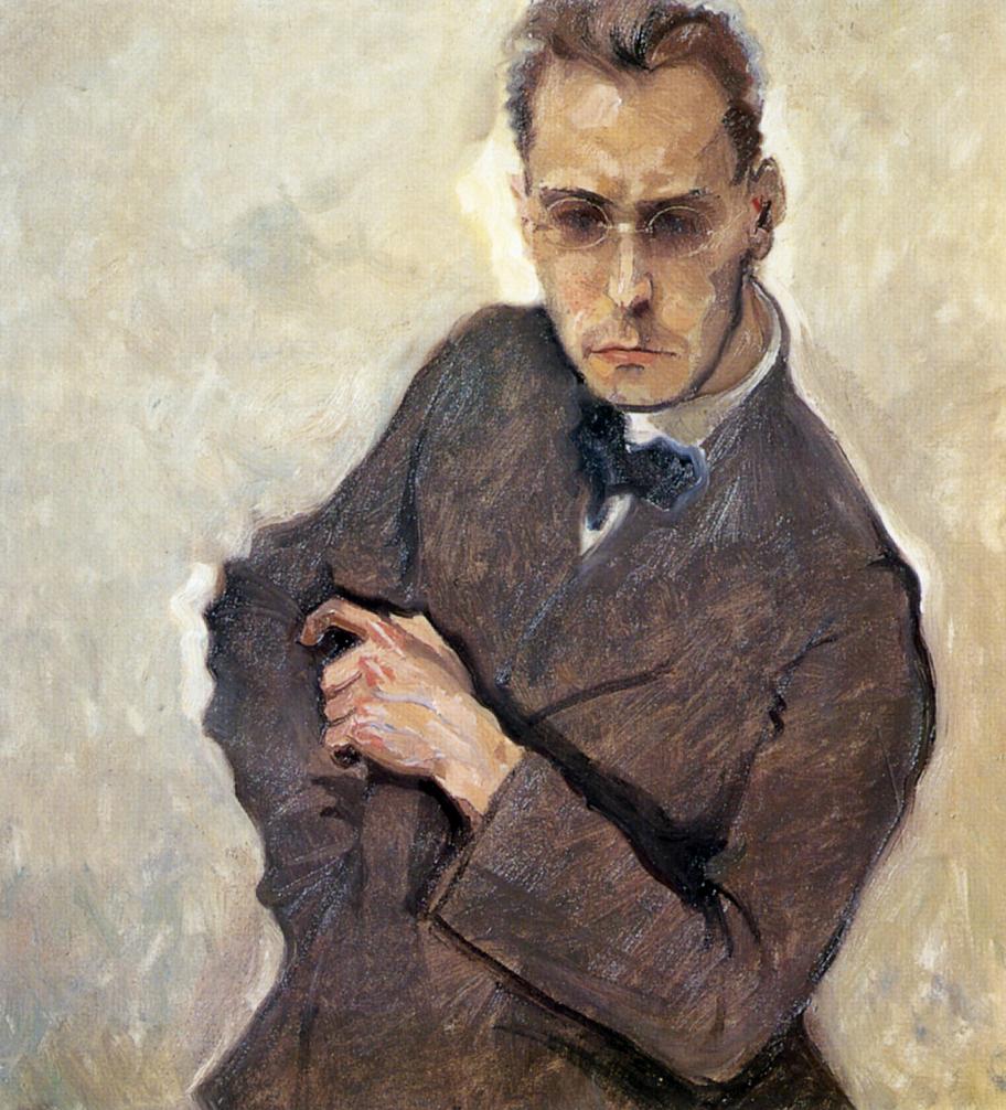 Max Oppenheimer, Ritratto di Anton Webern, ca. 1908.