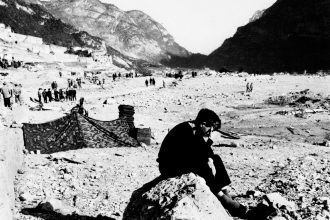 Longarone distrutta dal disastro del Vajont del 9 ottobre 1963