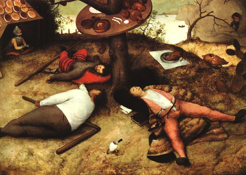 """""""Il paese della cuccanga"""" di Bruegel il Vecchio, 1567"""