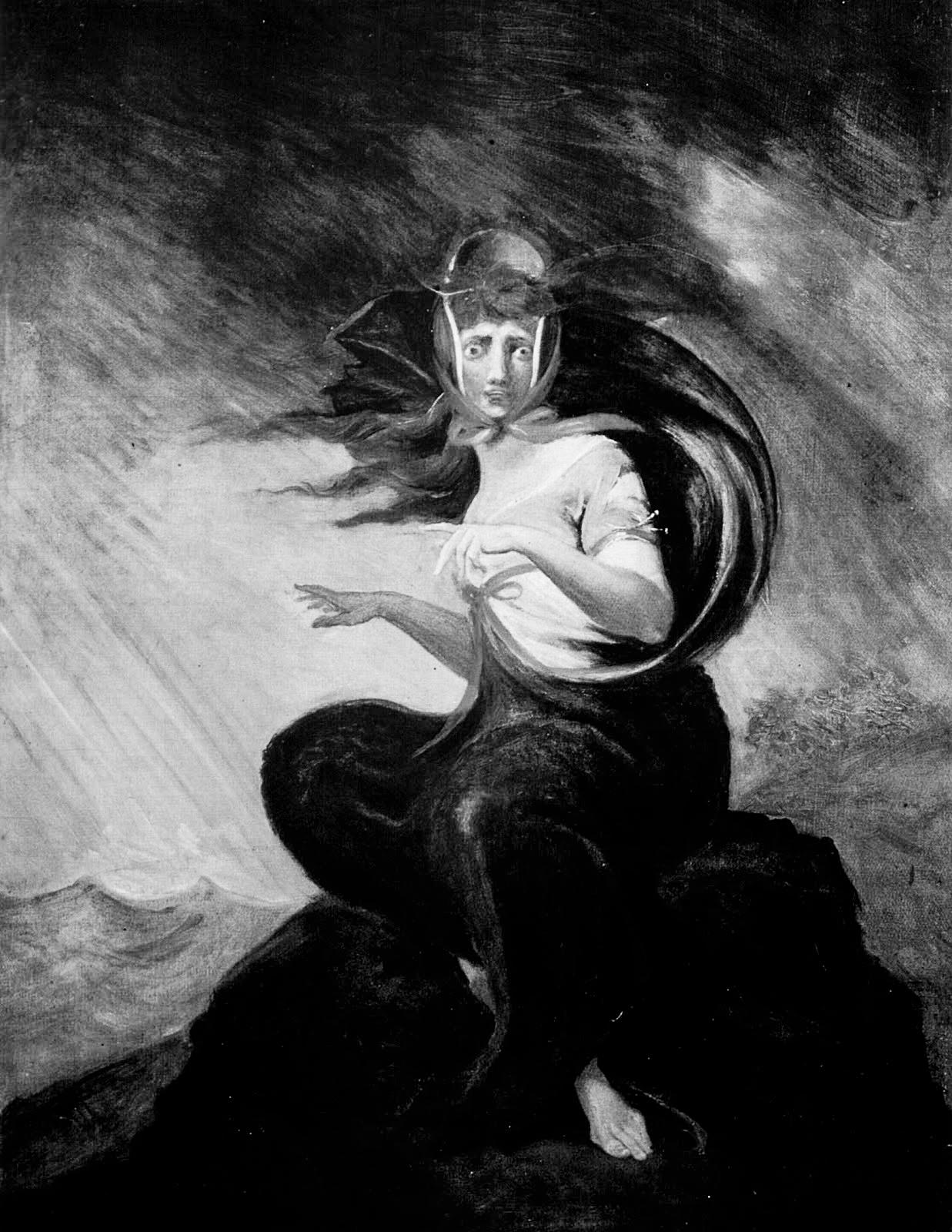 Johann Heinrich Füssli, La follia di Kate (1806-1807) Francoforte Goethe Museum [anna lav]