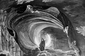 Karl Friedrich Schinkel Bozzetto per Il Flauto Magico (1816) bn