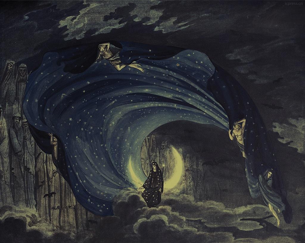 Karl Friedrich Schinkel Bozzetto per Il Flauto Magico (1816)