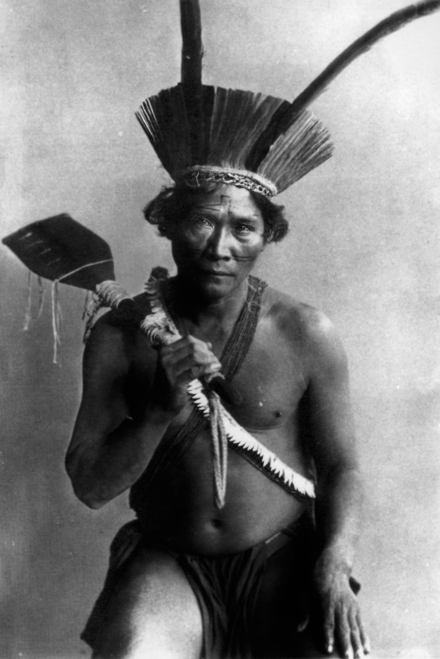 Ritratto di uomo del gruppo etnico amerindo Kalina | Pierre Petit, Parigi 1892