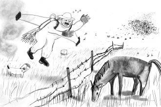 Il proprietario di sciami di api. Illustrazione di Irene Carminati
