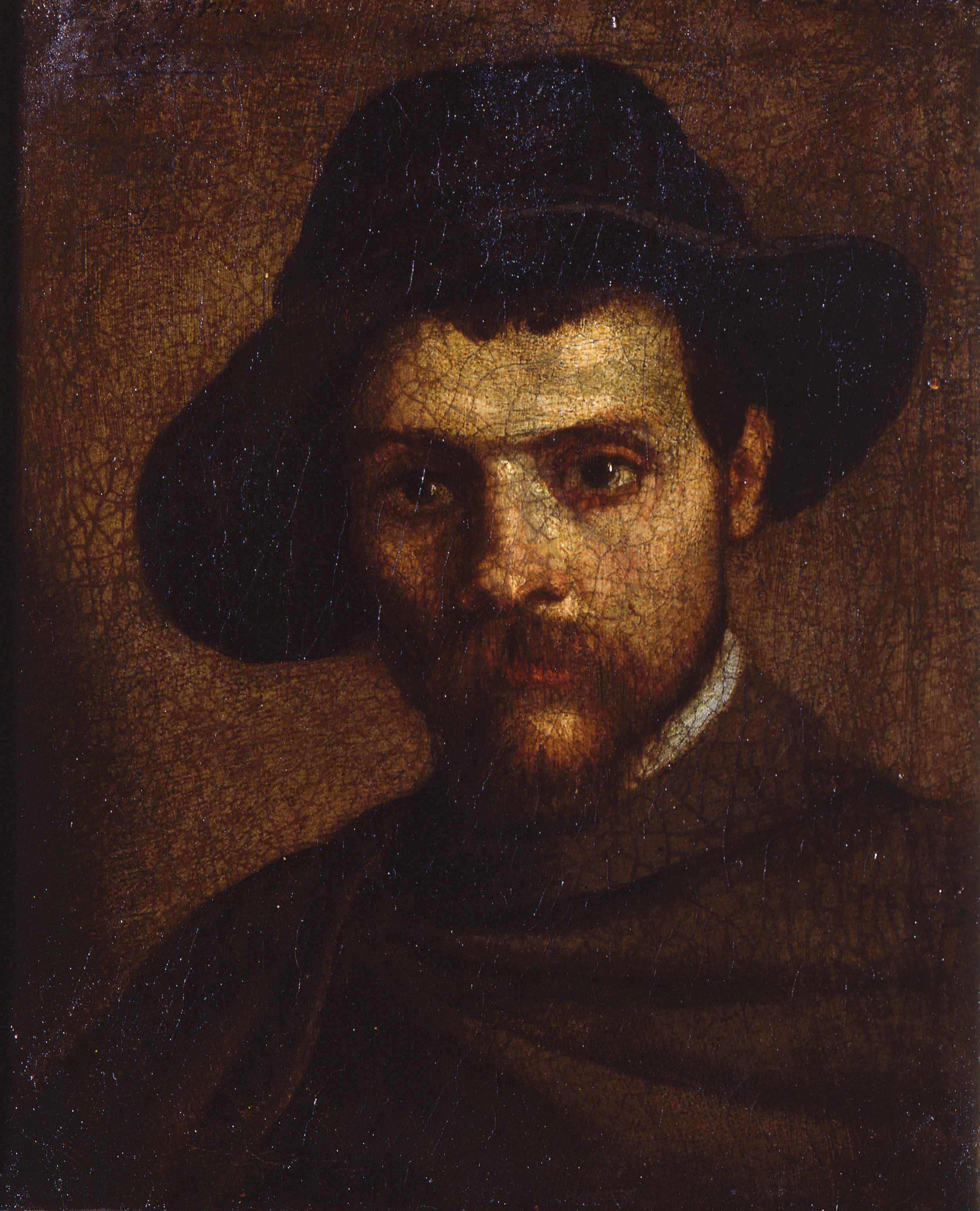 Annibale Carracci, 'Autoritratto col cappello a quattr'acque', 1593. Parma, Galleria Nazionale.