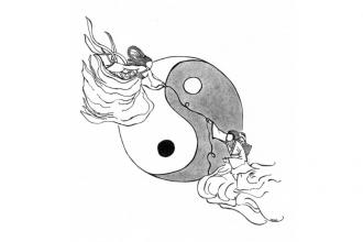 Vega e Altair illustrazione di Veronica Fiocchi