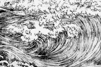 Le onde e il dragone | Utagawa Kuniyoshi, 1827-1831