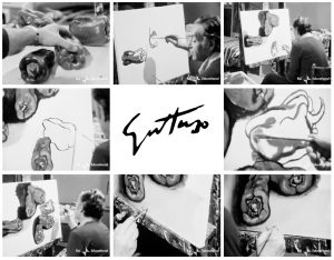 Renato Guttuso dipinge i peperoni nel suo studio | Fotogrammi dal documentario di Rai Educational 1975