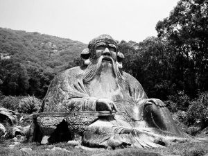 Scultura in pietra di Lao-Tzu a nord di Quanzhou, ai piedi del monte Qingyuan.
