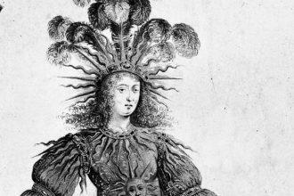 1_Louis XIV interpreta il dio del sole Apollo nel Ballet de la nuit. Illustrazione di Henry de Gissey 1653_bn