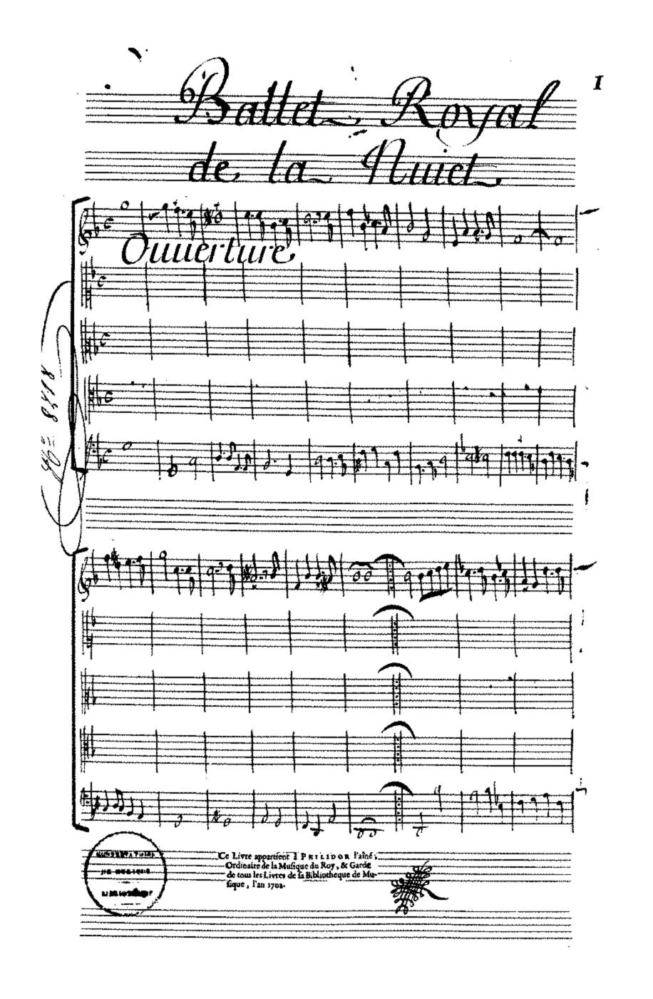 2_Ballet de la Nuit_Ouverture di Jean de Cambefort. Libretto di Isaac de Bensérade.