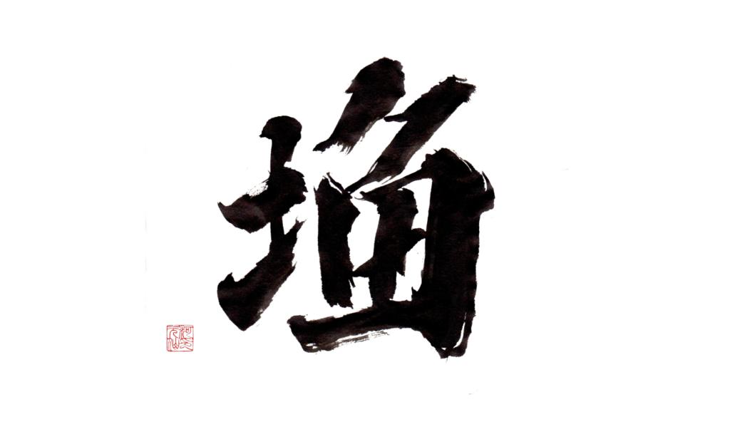 I Ching 29 kaishu, calligrafia di Bruno Riva, Shodo.it