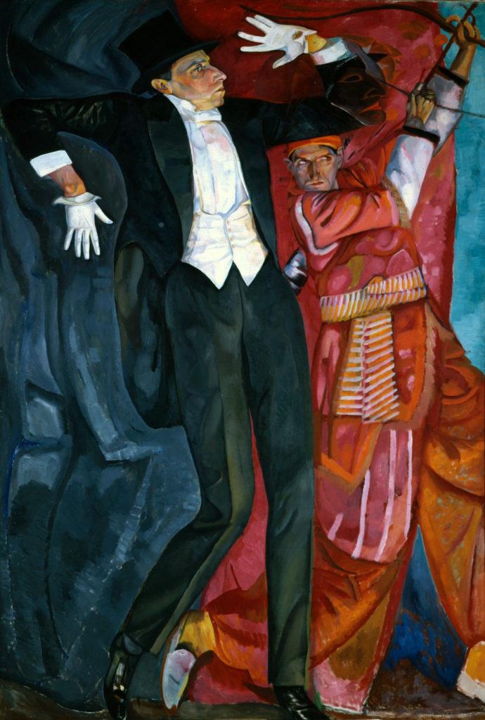 revisore Mejerchol'd - Dipinto di Boris Grigoriev 1916