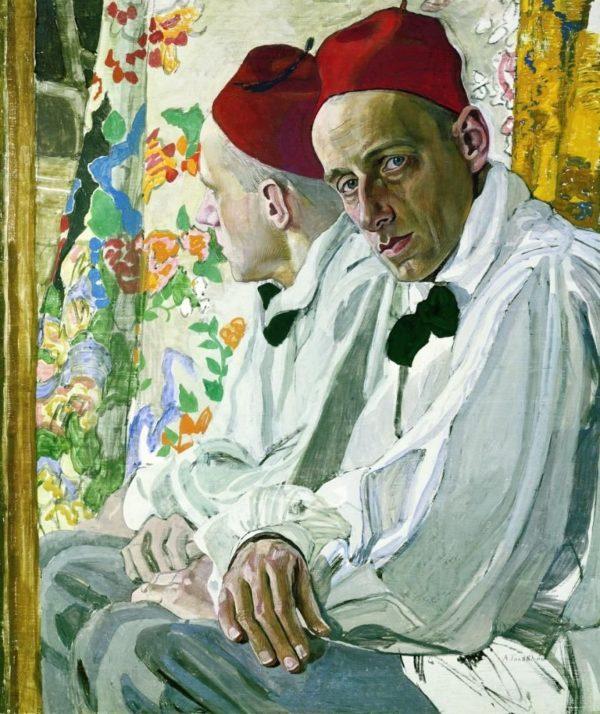 revisore Ritratto di Mejerchol'd - Alexander Golovin 1917