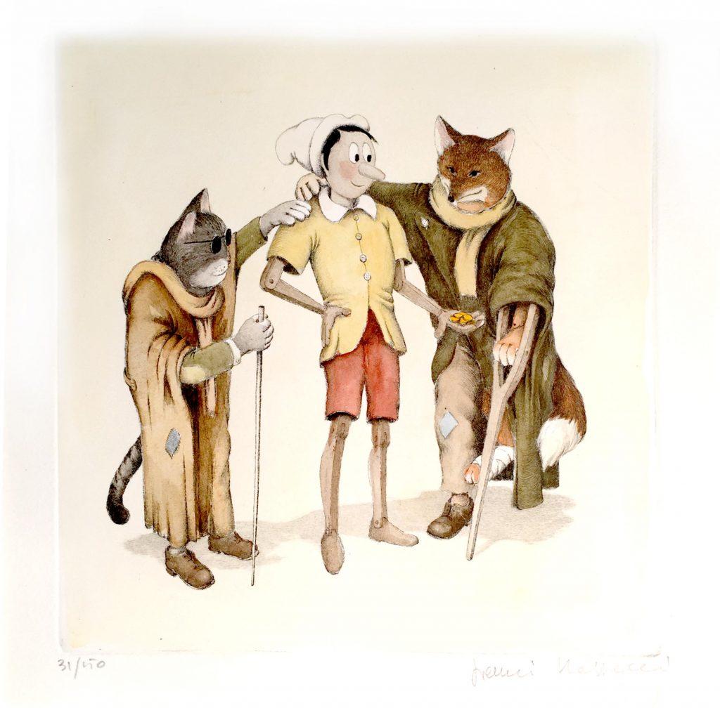 Pinocchio gatto e la volpe