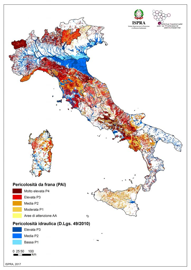 inondazione mappa rischio